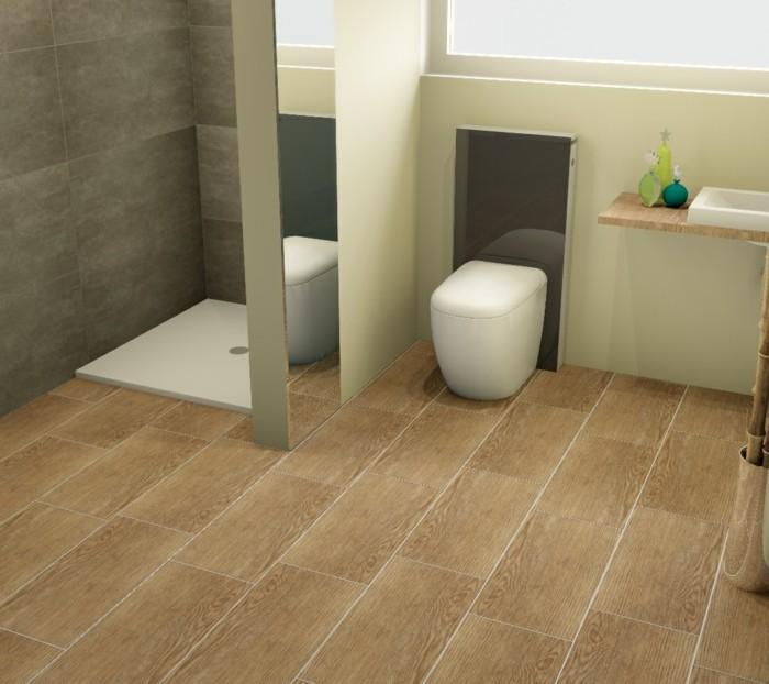 fliesen in holzoptik badezimmer wohnlich gestalten. Black Bedroom Furniture Sets. Home Design Ideas