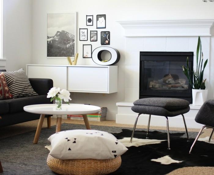 buchstaben deko dezente dekoration im wohnzimmer