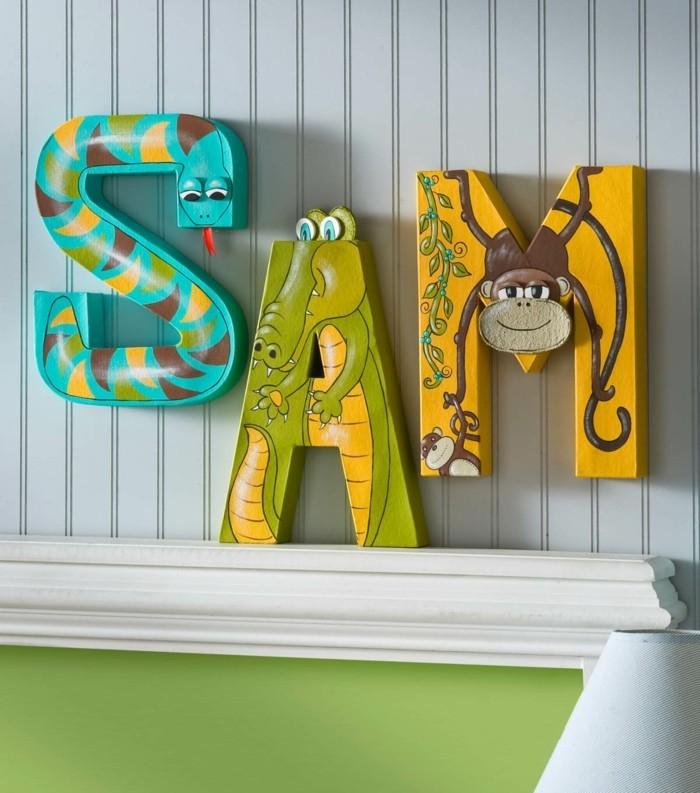 buchstaben deko für das kinderzimmer lustige dekoideen