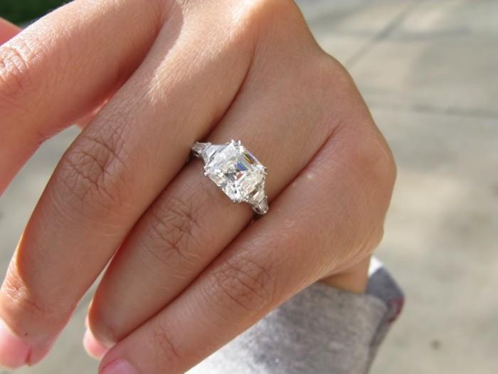 carre verlobungsring brillantring richtig auswählen