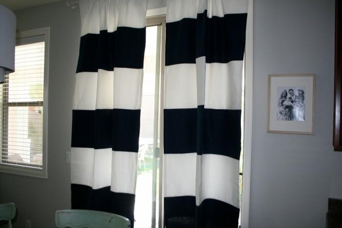 dekoidee gardinen in streifenmuster