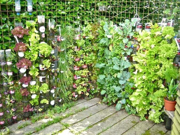 diy grüne bepflanzung tolle deko