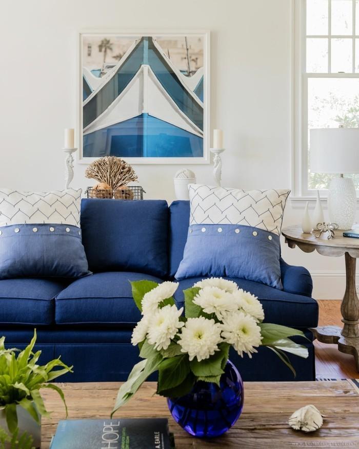 elegante wohnzimmereinrichtung blautöne 2020