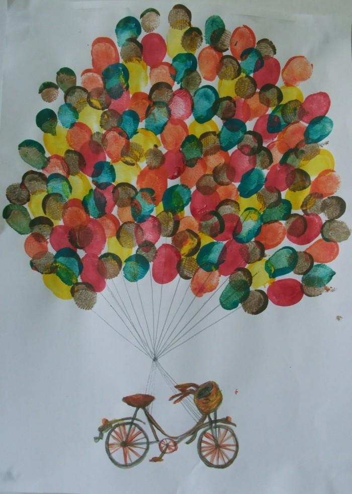 fingerabdruck bilder farbige ballons