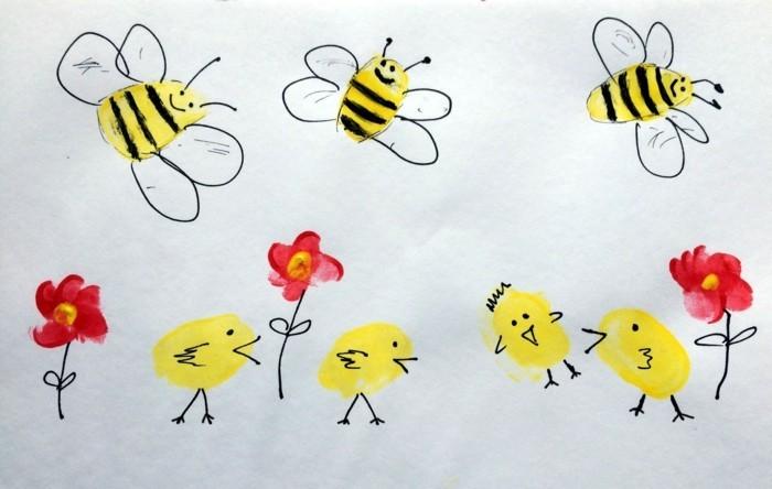 fingerabdruck bilder lustige ideen für die kleinkinder