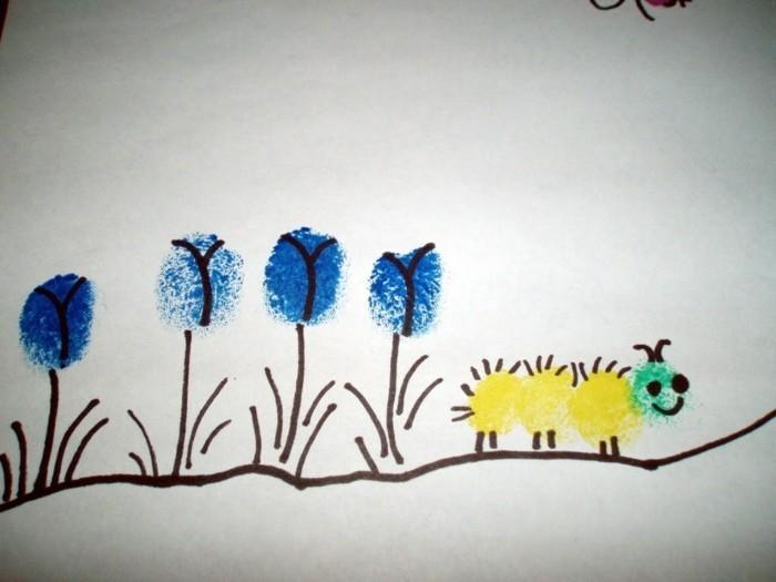 fingerabdruck bilder schöne ideen für die kleinen