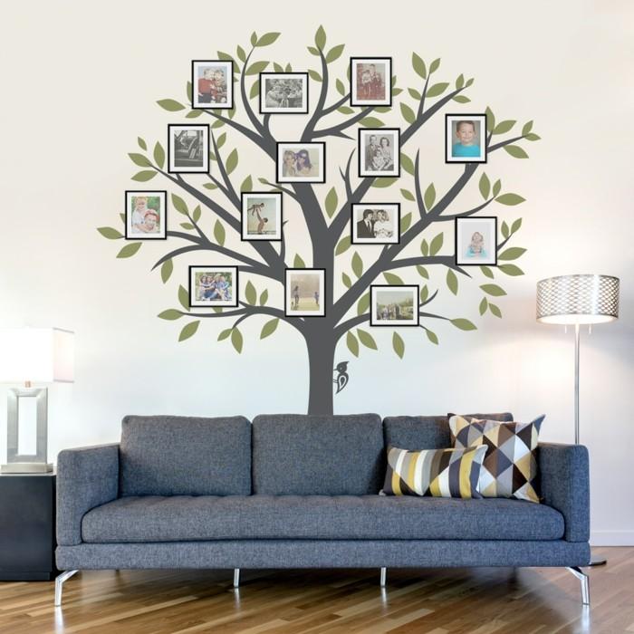 fotowand gestalten wohnzimmerwände dekorieren