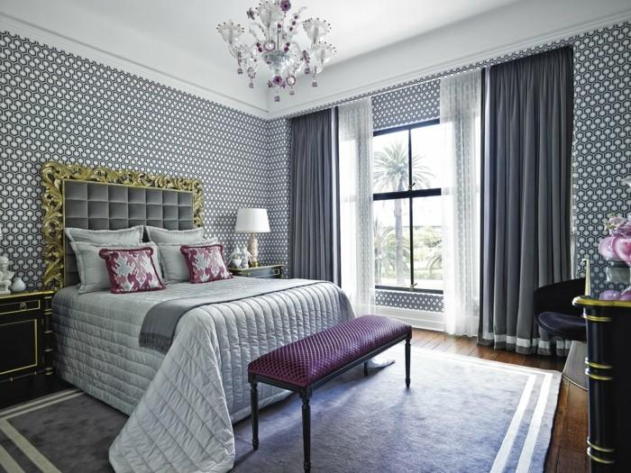 gardinen schlafzimmer ausgefallene idee wie sie stoffe und muster im schlafbereich kombinieren