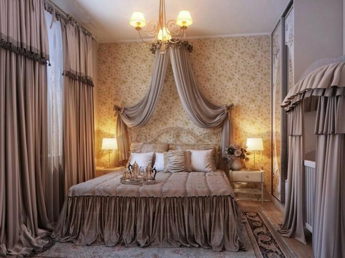 gardinen schlafzimmer beige vorhänge bringen eine dose stil in den schlafbereich