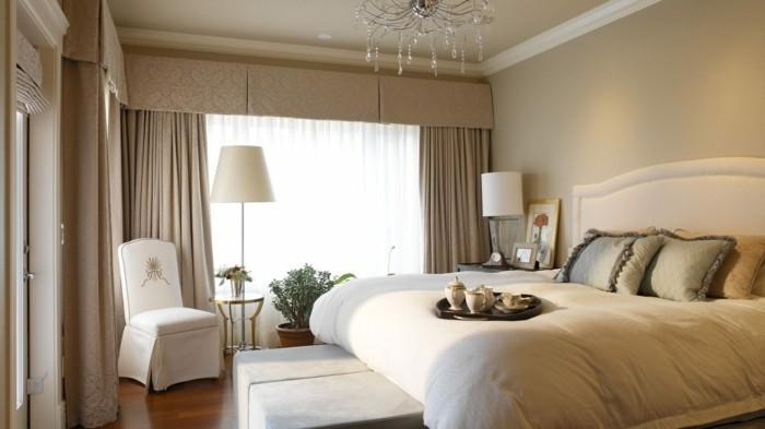gardinen schlafzimmer beige vorhänge sind eine neutrale lösung im modernen schlafbereich