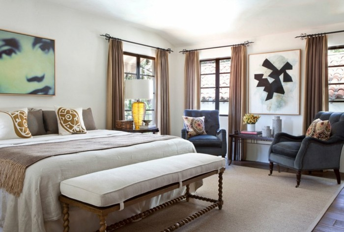 Gardinen Schlafzimmer Brauntöne Sind Eine Dezente Lösung Für Den  Schlafbereich