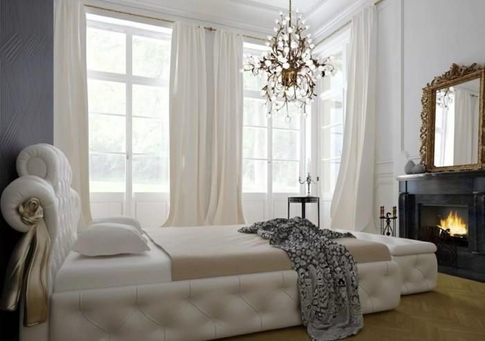 gardinen schlafzimmer elegante weiße gardinen