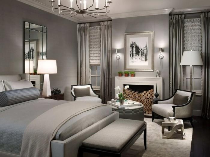 wohnideen schlafzimmer gardinen auswählen für einen luxuriösen schlafzimmer look