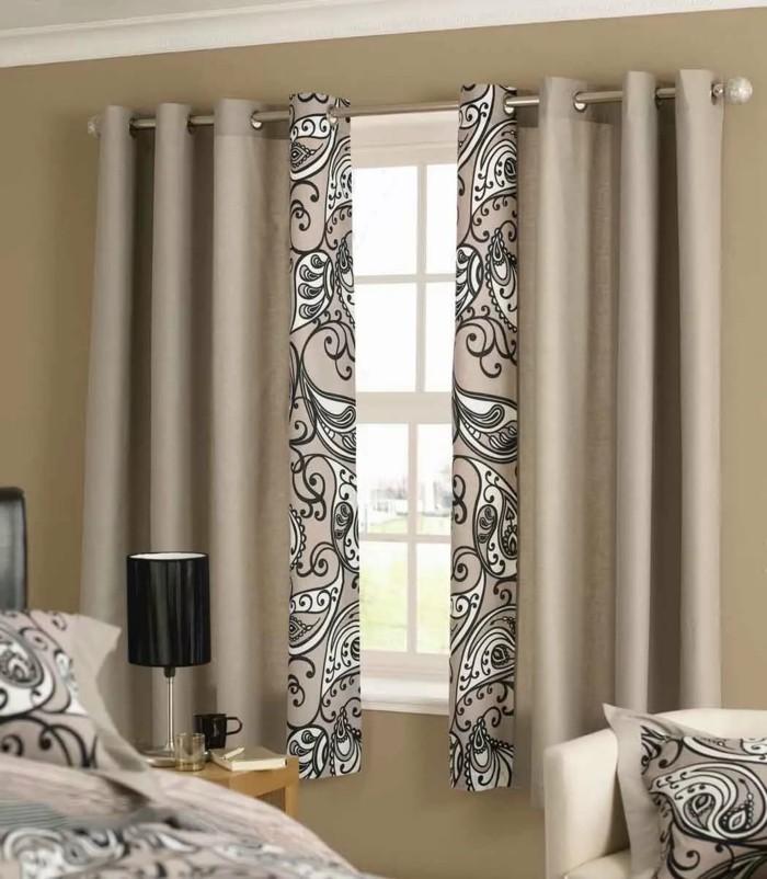 gardinen schlafzimmer frisches gardinenmuster in beigenuancen