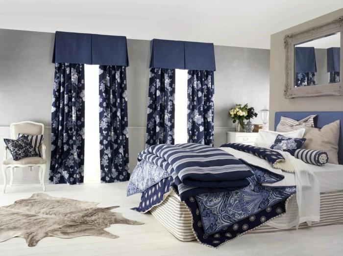 gardinen schlafzimmer hfrische gardinenmuster mit floralen motiven