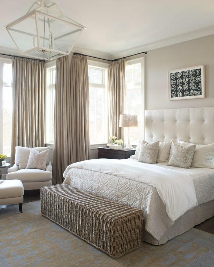 gardinen schlafzimmer in beige und ein helles gemütliches innendesign