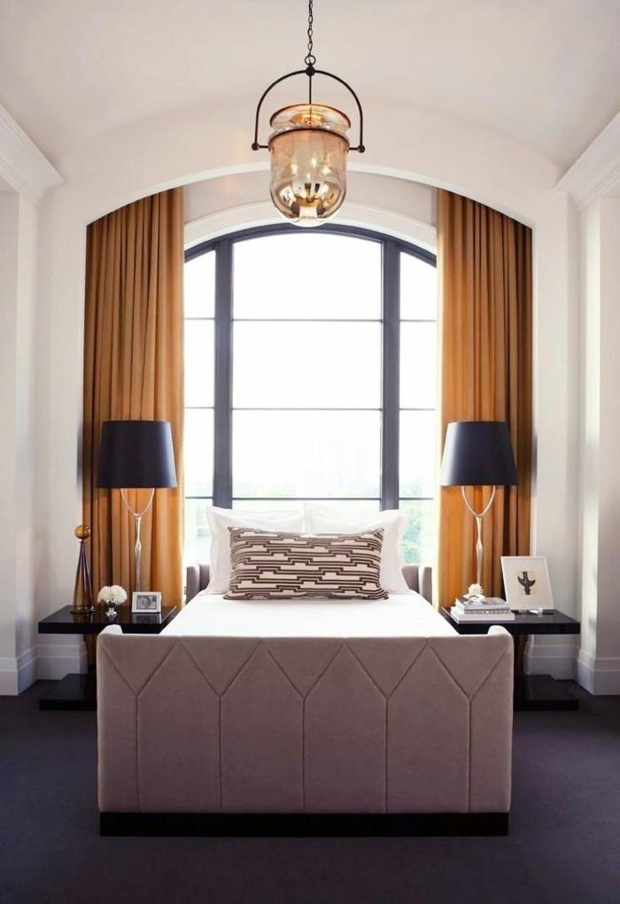 gardinen schlafzimmer in einem frischen farbton peppen das interieur auf