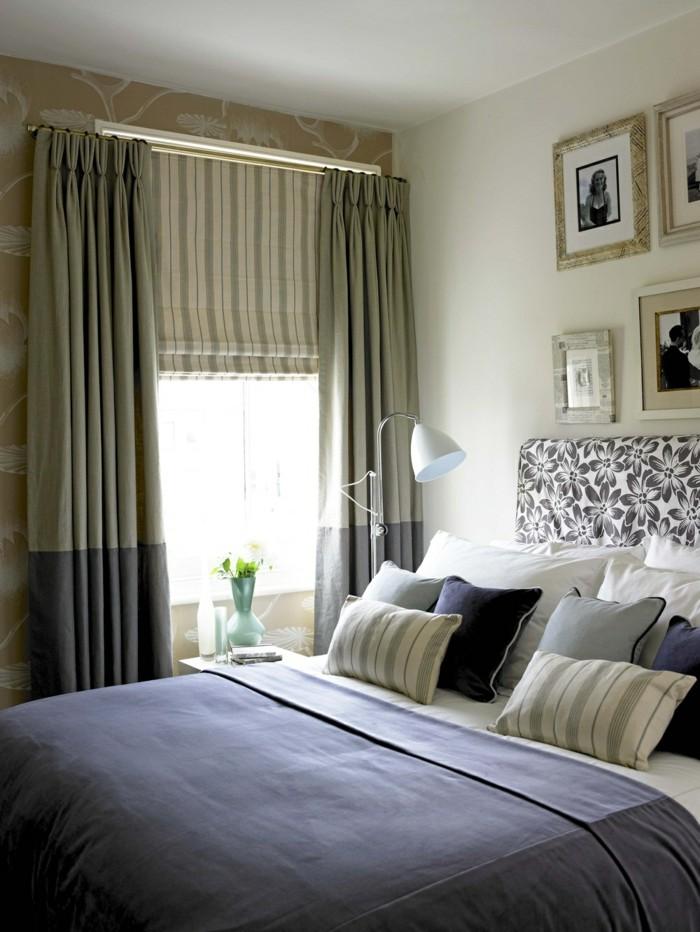 gardinen schlafzimmer in einer interessanten farbkombination