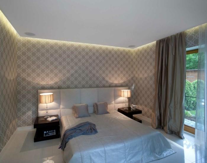 gardinen schlafzimmer in neutralen farben