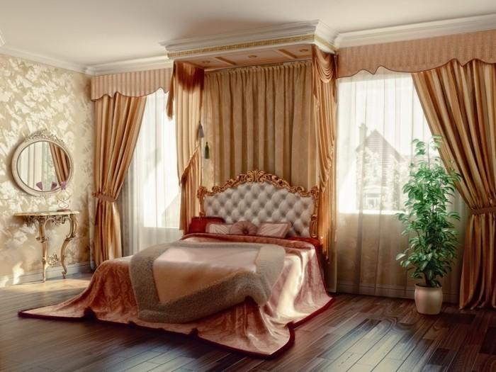 gardinen schlafzimmer luxuriöse wohnideen für den schlafbereich