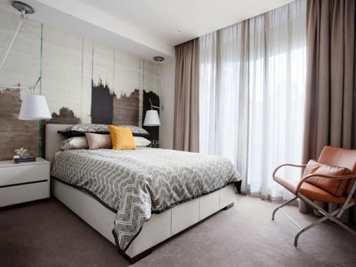 gardinen schlafzimmer neutrale ideen für den schlafbereich