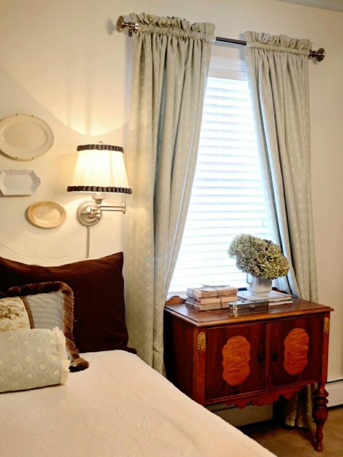 wohnideen schlafzimmer gardinen in einen passendne stil auswählen