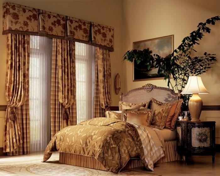 gardinen schlafzimmer stilvolle vorhänge mit schönem blumenmuster