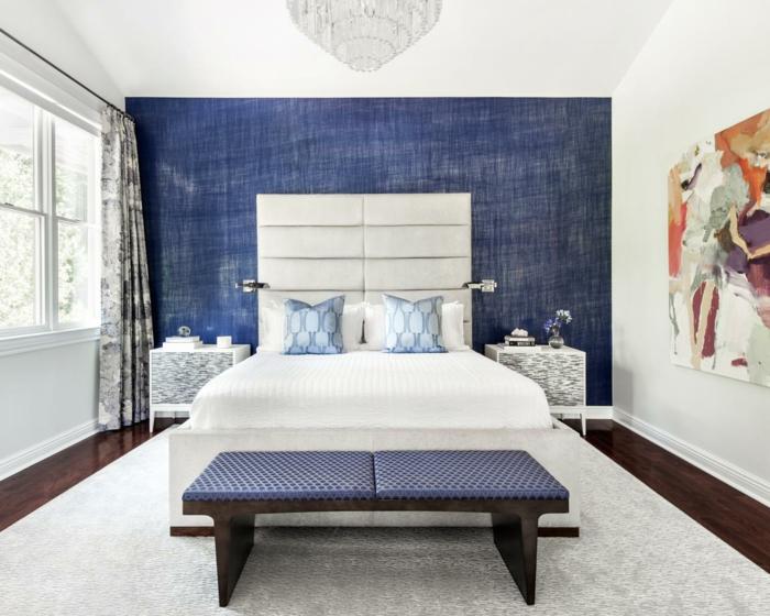 gardinen schlafzimmer vorhänge mit schönem muster