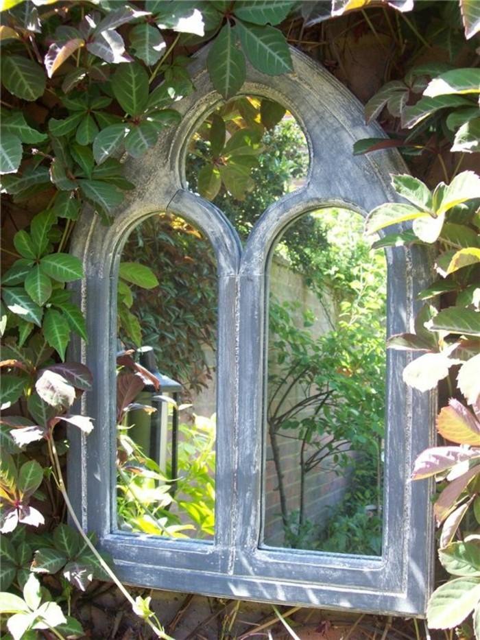 garten ideen gotischer spiegel