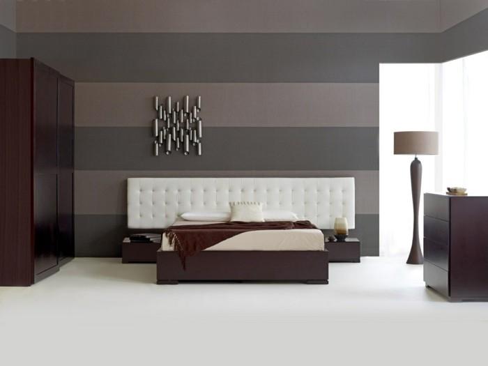 grau hell und weiß wandgestaltung streifen