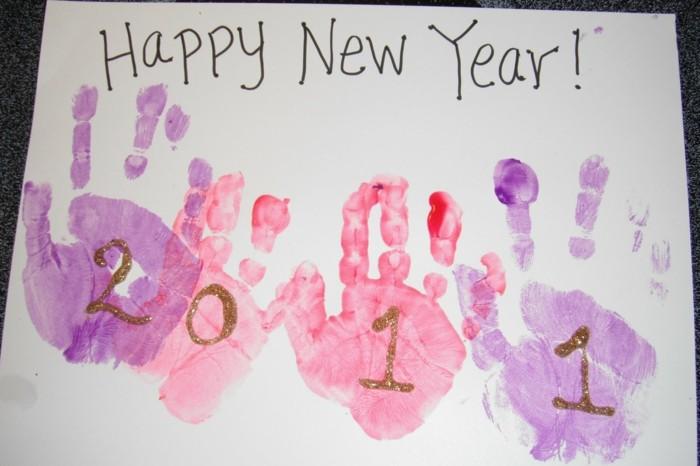 handabdruck bilder neujahr glückswunsch