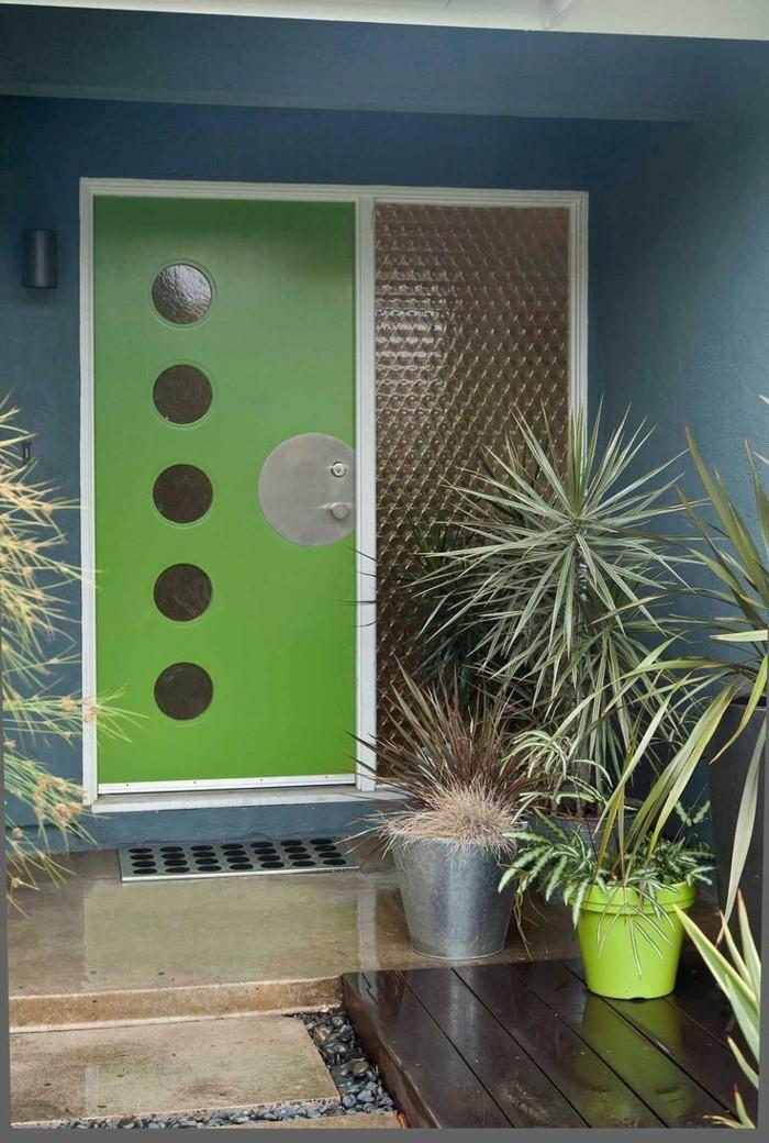 haustüren moderne grüne tür