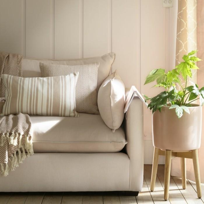 hellrosa einrichtung sofa