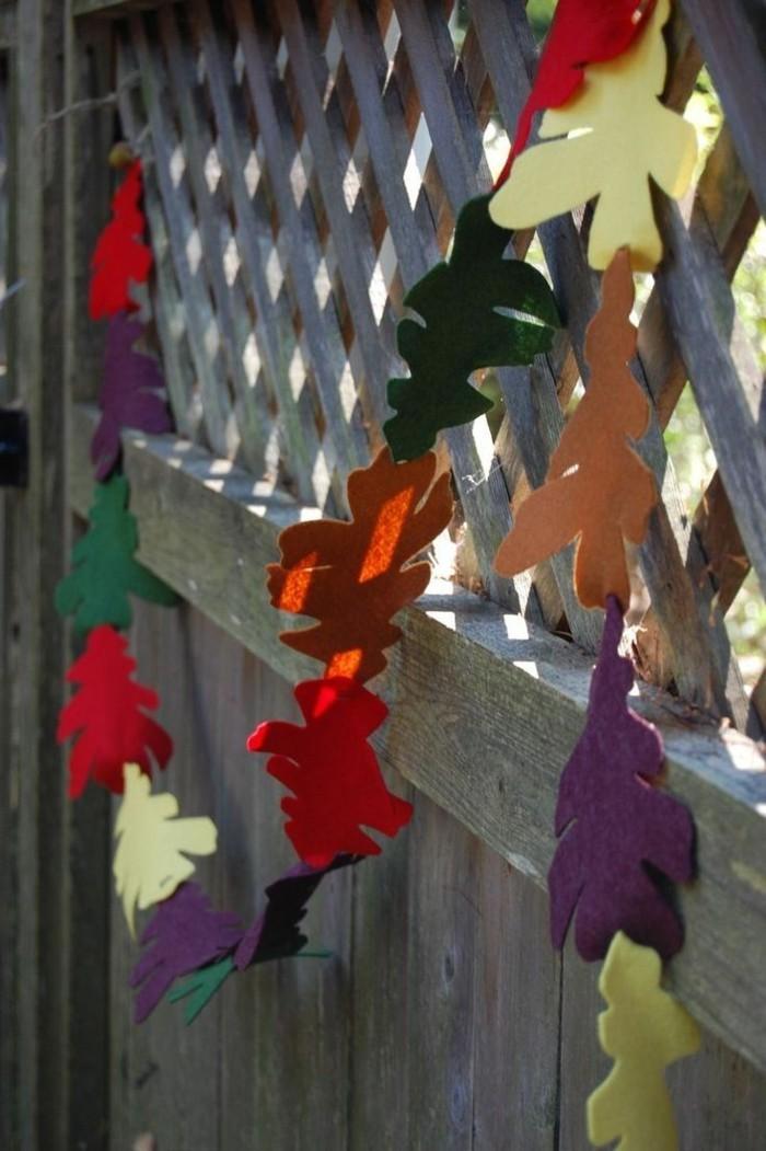 herbstblätter bastelideen diy deko herbstfarben