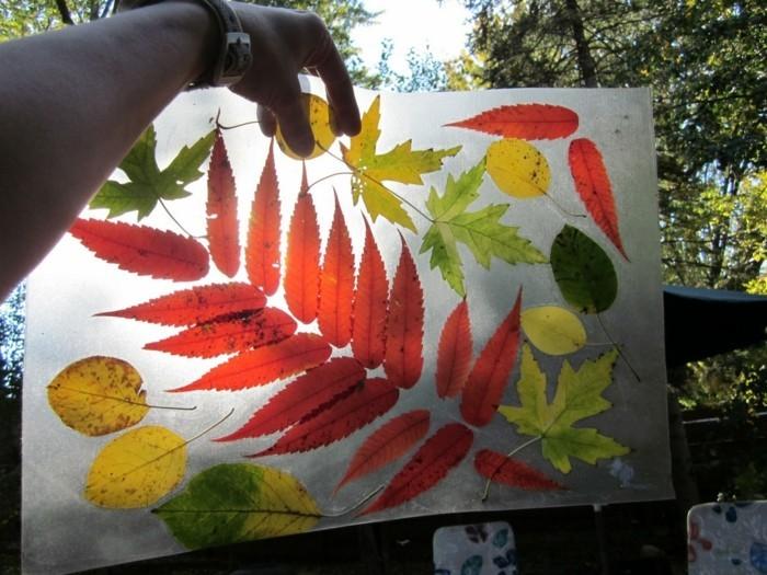 herbstblätter bastelideen diy deko herbstsonne