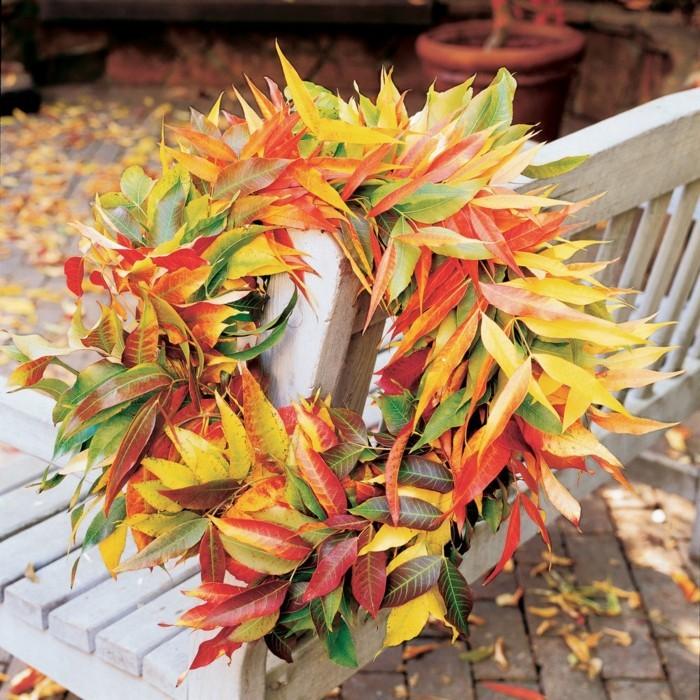 herbstblätter bastelideen diy deko kranz