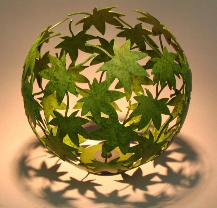 herbstblätter bastelideen diy deko kugel
