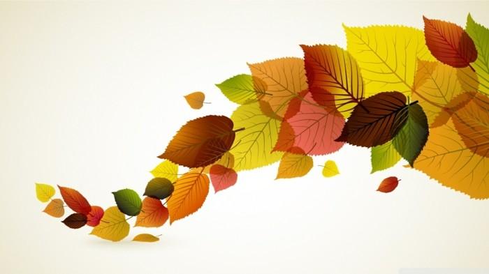 herbstblätter bastelideen diy deko wandgestaltung stilisiert
