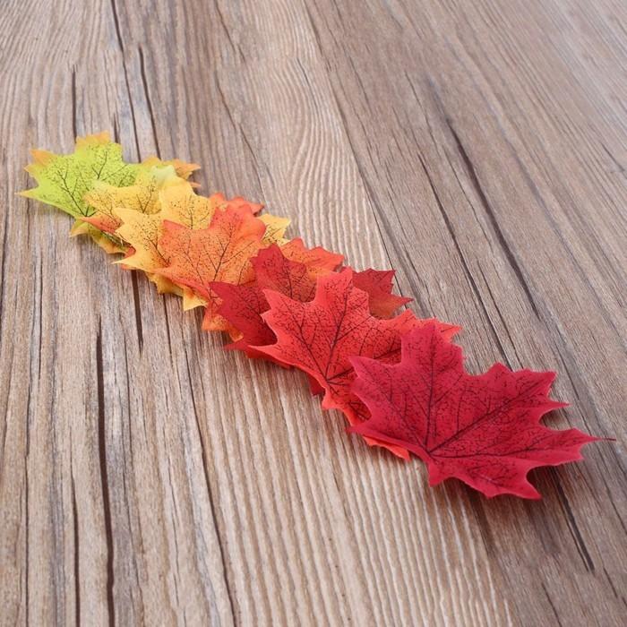 herbstblätter bastelideen diy deko windlichter basteln farbverlauf