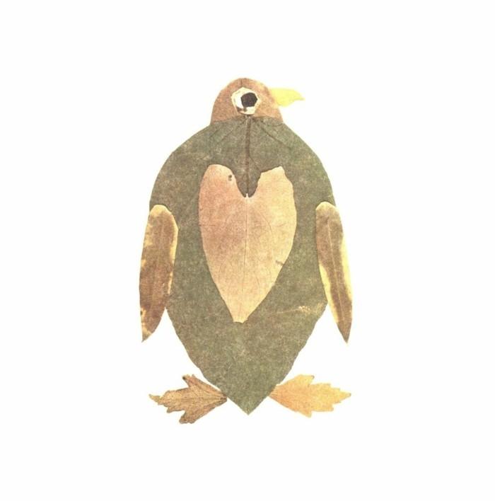 herbstblätter bastelideen diy deko windlichter basteln pinguin