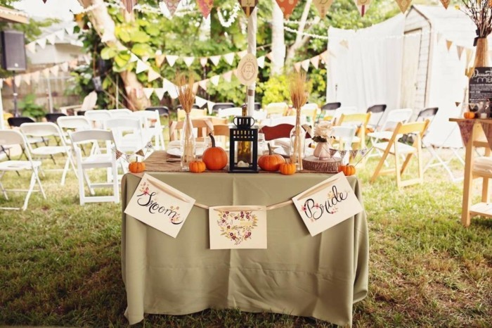 The most beautiful wedding decoration ideas in late summer and autumn