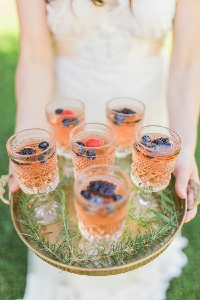hochzeitsmenü frische cocktails anbieten