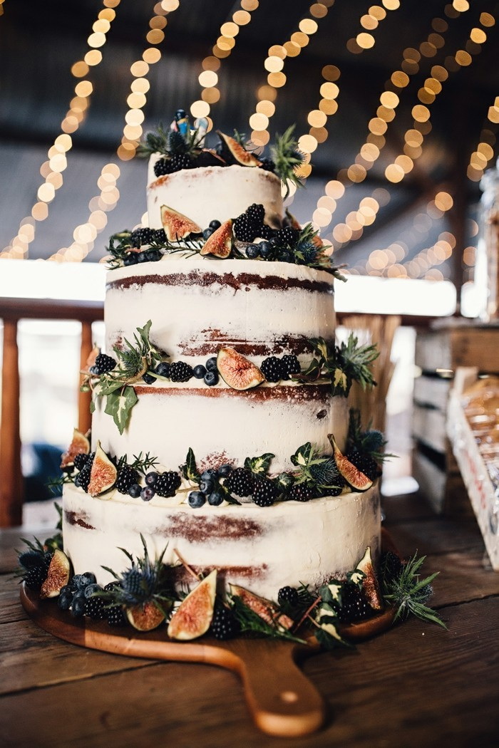hochzeitstorte bilder ausgefallene torte mit feigen