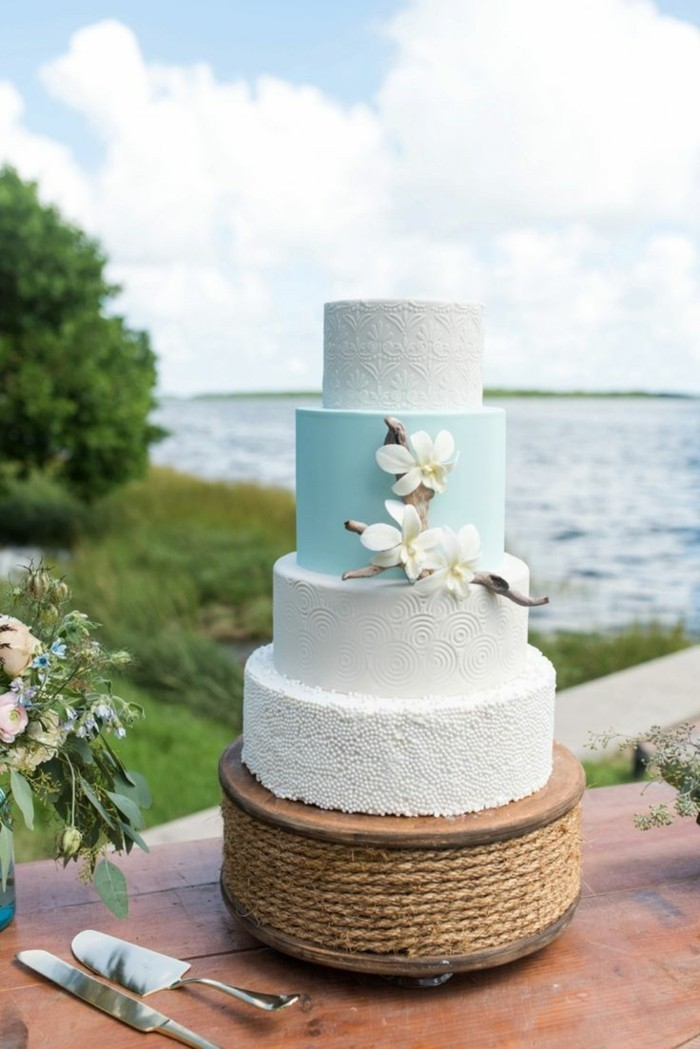hochzeitstorte bilder elegante idee für eine sommerliche torte