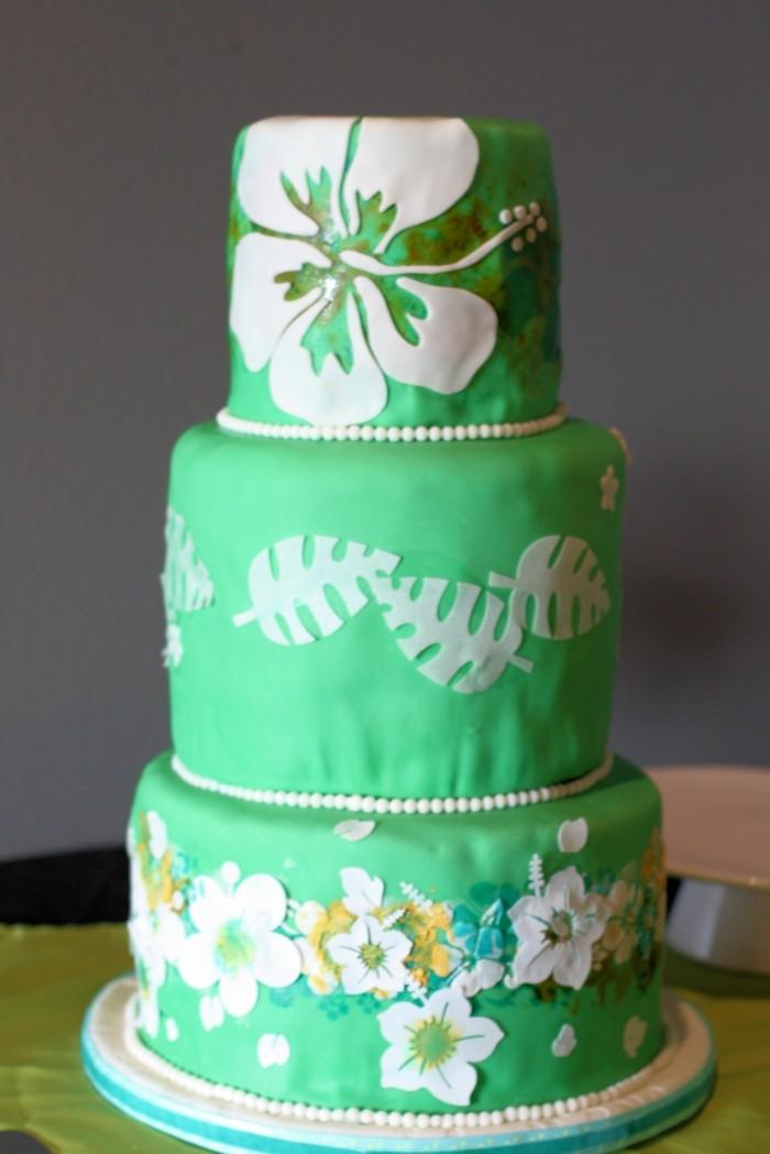 hochzeitstorten grüne torte hawaii