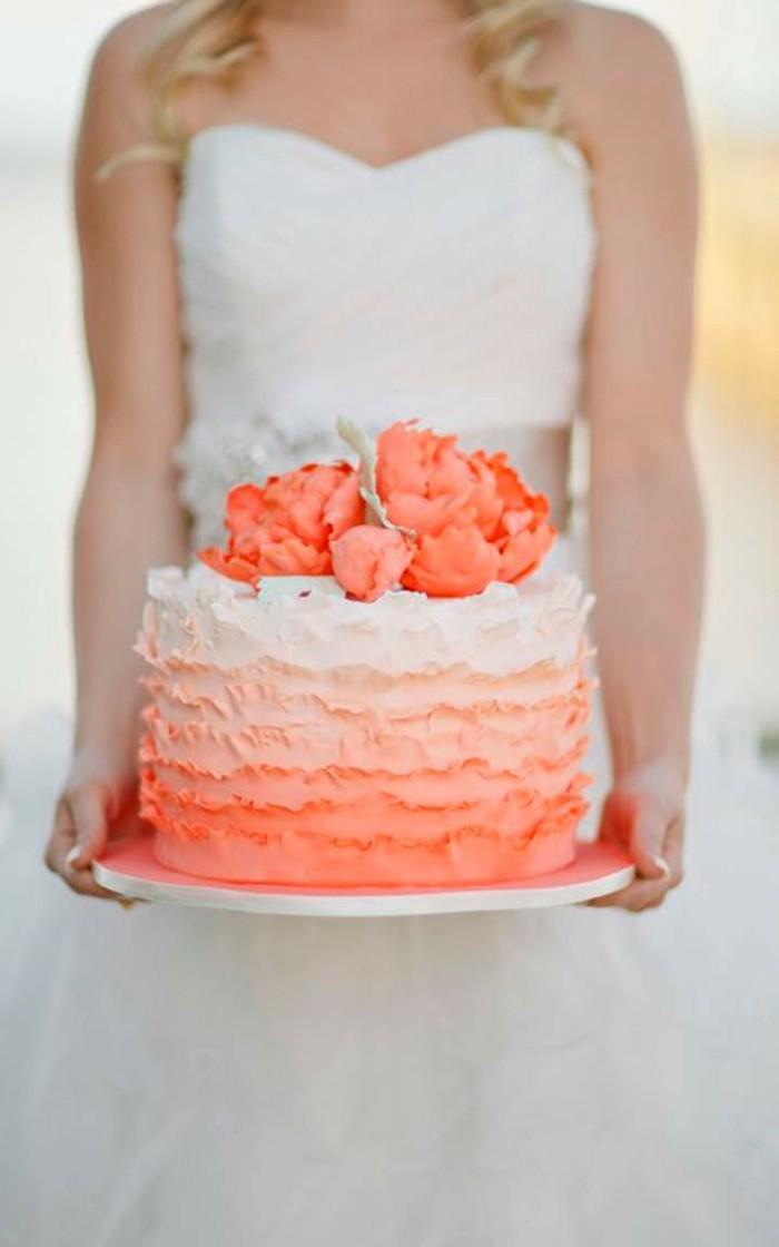 hochzeitstorten ombre hochzeitstorte in orange