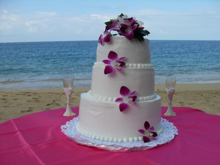 hochzeitstorten sommerliche torte hawaii