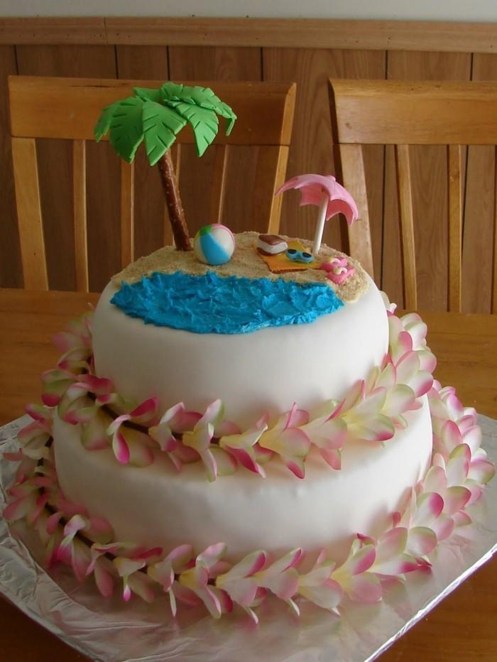 hochzeitstorten zweistöckige torte hawaii