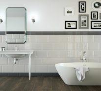 Fliesen in Holzoptik – Badezimmer wohnlich gestalten