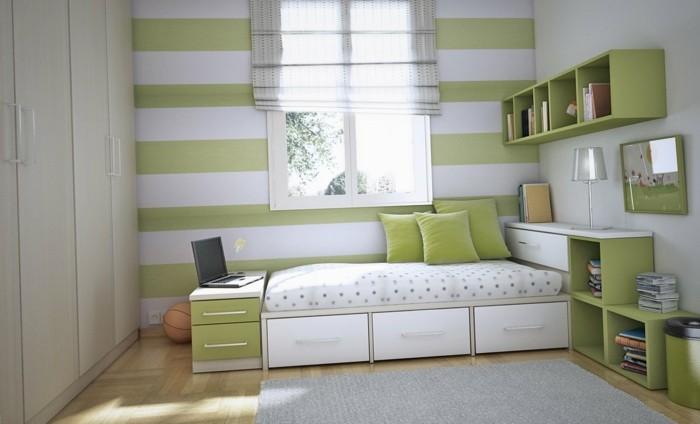 horizontale streifen grün und weiß
